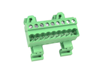 5.08 mm Pitch - Pluggable Straight DIN Rail Male Terminal Block 9 Contacts - CTBPD96VJ-09