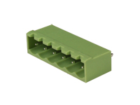 5.08 mm pitch - pluggable straight male closed terminal block - 6 contacts