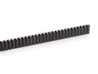 2.54 mm Pitch - Turned Pin Straight Female Header Strip Long 36 Pins