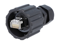 Cable-Mount Male Telephone Connector 8P8C - RJ45 Waterproof