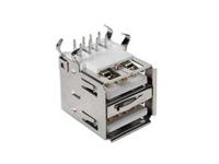 Conector USB-A Hembra Circuito Impreso Acodado Doble