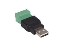 Conector USB-A Macho - Conexión a Tornillo - CV051
