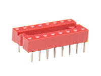 DIL Socket Integrated Circuit - 16 Pins - Narrow - Flat Pin