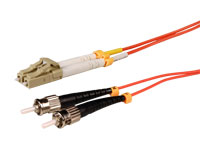 LC-PC to ST-PC - MM 62.5-125 1.8 mm - 1 m Duplex Fiber Optic Cable
