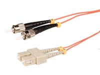 SC-PC to ST-PC - MM 62.5-125 1.8 mm - 1 m Duplex Fiber Optic Cable