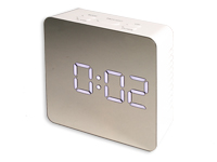 Desktop Alarm Clock with Thermometer - Mirror Front - CL-91
