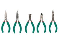 Set de 5 Pinces de Précision (Coupante Diagonale, Cutter, 3 x Plat) - VTSETN