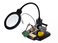 Soldering center with helping Hand + Magnifier - VTHHSC