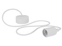 Lâmpada de Suspensão Teto - E27 - tipo Rétro - Cor Branca - LAMPH01W