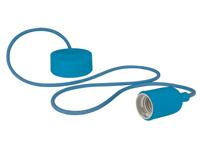 Lâmpada de Suspensão Teto - E27 - tipo Rétro - Cor Azul - LAMPH01BL