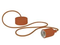 Lâmpada de Suspensão Teto - E27 - tipo Rétro - Cor Marrom - LAMPH01BR