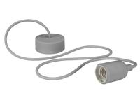 Lâmpada de Suspensão Teto - E27 - tipo Rétro - Cor Cinzento - LAMPH01G