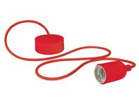 Lâmpada de Suspensão Teto - E27 - tipo rétro - Cor Vermelho - LAMPH01R