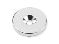Neodymium Magnet - Disque - Ø27 x 4 mm - N35 - with Holes for Screws