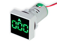 Digital Ammeter - 0 .. 100 Aac - Green - Ø22 mm - CX16-22AS,0-100A,GREEN
