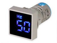 Digital frequency Meter - 0 .. 90 Hz - Ø22 mm - CX16-22HZS-0-90,BLUE