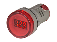 Digital Voltmeter - 3,5 .. 60 Vdc - Red - Ø22 mm - CX16-22VS,DC0.60,RED
