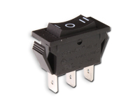 3P 1C - Two-way rocker switch - black button