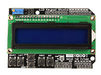 ARDUINO LCD 16 x 2 SHIELD - white on blue - I2C - board
