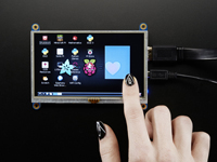 "HDMI 5"" 800 x 482 TFT with touch screen"