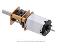 Pololu - Micro-Moteur Réduction à Engrenages Métalliques 6 V 1000:1 avec Axe Long - 2373