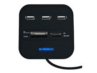 Leitor de Multi Cartões por USB 2.0 + Hub 3 Portas USB - BM-CR04