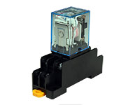 LY2NJ - Relé Media Potência DPDT 2 CO 230 V com Suporte Trilho DIN