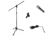 Tripode de Microfono Pie Jirafe con Microfono y Pinza