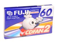 Fuji CDFAN2-60 - Fita cassete Áudio Virgem - 60 minutos TYPE II