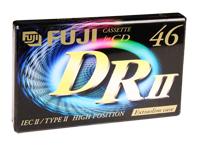 Fuji DRII-46 - Fita cassete Virgem - 46 minutos - TYPE II