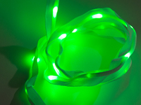 Sewable LED ribbon 25 LEDs 1 m green