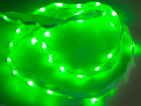 Sewable LED ribbon 50 LEDs 1 m green