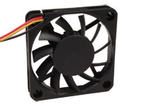 Ventilador Axial Casquillo 60 x 60 x 25 mm - 24 Vcc - 3 Cables - KLD024PP060CSWH-RD
