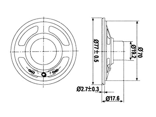 Velleman MLS4 - Mini Speaker - 1 W - 8 Ohms - Ø 77 mm