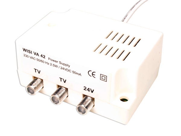 Power supply unit for masthead antenna amplifier