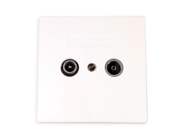 Flush mount TV-Sat antenna socket with cover