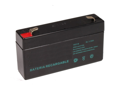 6 V - 1.3 AH lead-acid battery