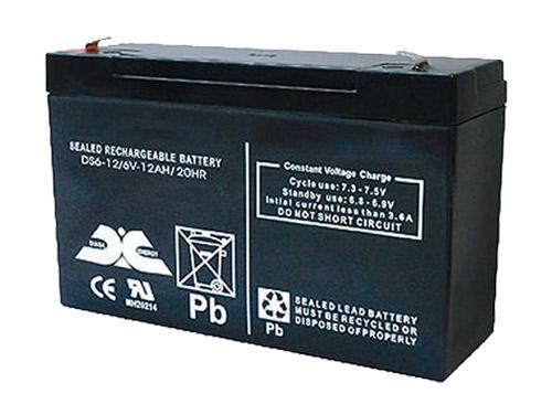 Bateria chumbo 6 V - 12 AH