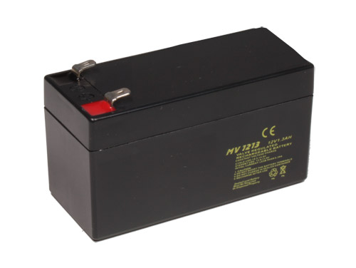 12 V - 1.3 AH lead-acid battery