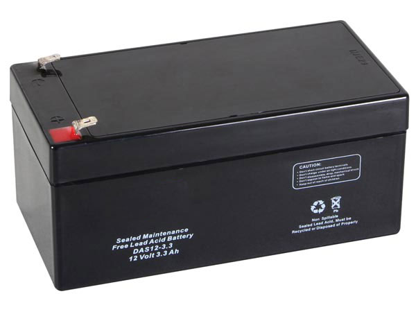 12 V - 3.3 AH lead-acid battery