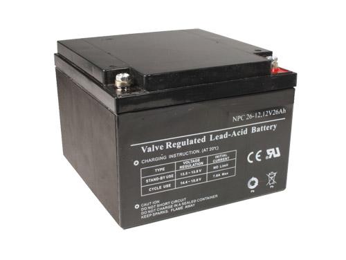 12 V - 26 AH lead-acid batteryº
