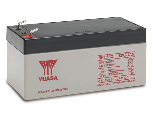 YUASA - NP3.2-12 : 12 V - 3.2 AH lead-acid battery
