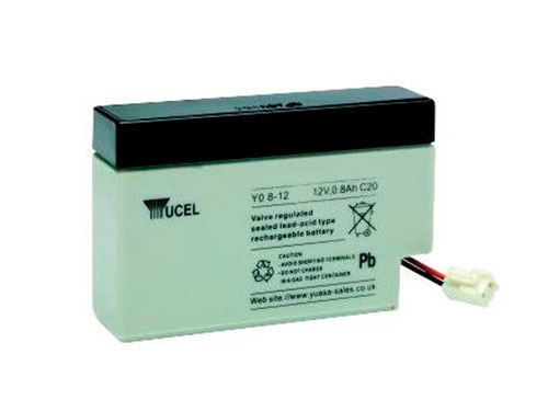 YUCELL Y0.8-12 : 12 V - 0,8 AH lead-acid battery (equivalent: NP0,8-12)