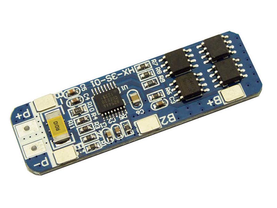 BMS - Module de Protection de Chargeur pour 3 Batteries au Lithium-Ion 18650 - 11,1 V - 5 A