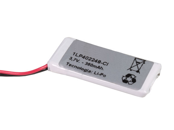 3.7 V - 390 mA Lithium Polymer Battery - 1LP402248