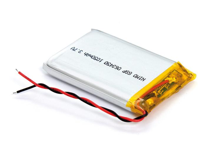 Batería de Polímero Litio 3,7 V - 1100 mA