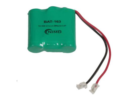 3.6 V - 300 mAH NiMH 2/3AAA battery x 3