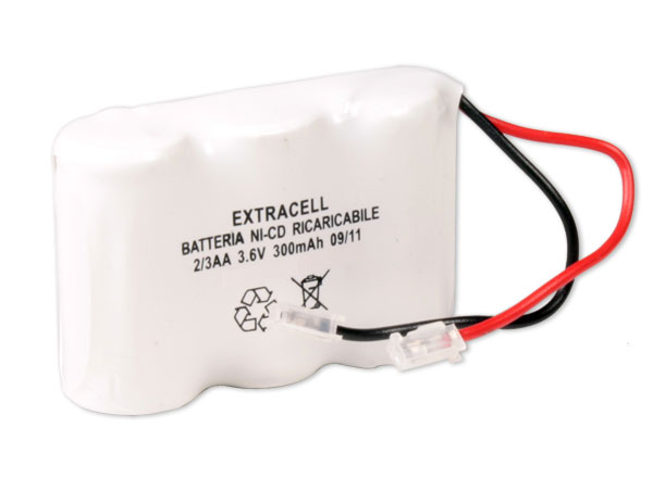 3.6 V - 300 mAH NiCd 2/3aa battery x 3