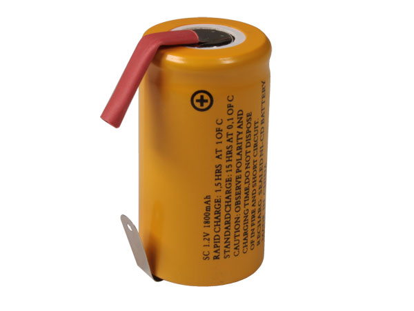 Sub-C 1.2 V - 1800 mAH NiCd battery