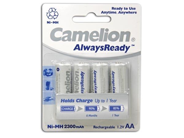 Camelion Alwaysready - Batería NiMH 1,2 V - 2300 mAh - AA - Blister 4 Unidades